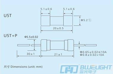 U5T系列/Φ5X20玻璃管延时安徽快3形态走势图(图3)